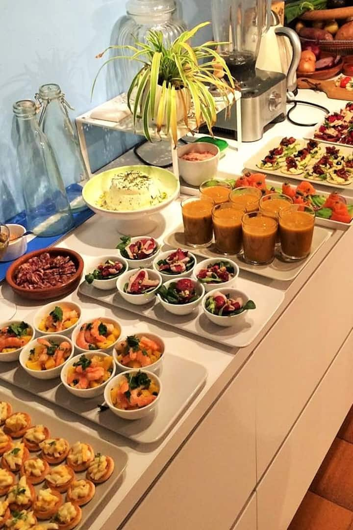 One of our appetizers buffet