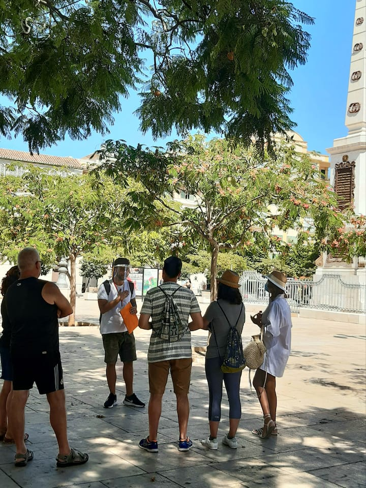 Plaza de la Merced - explicación obelisco
