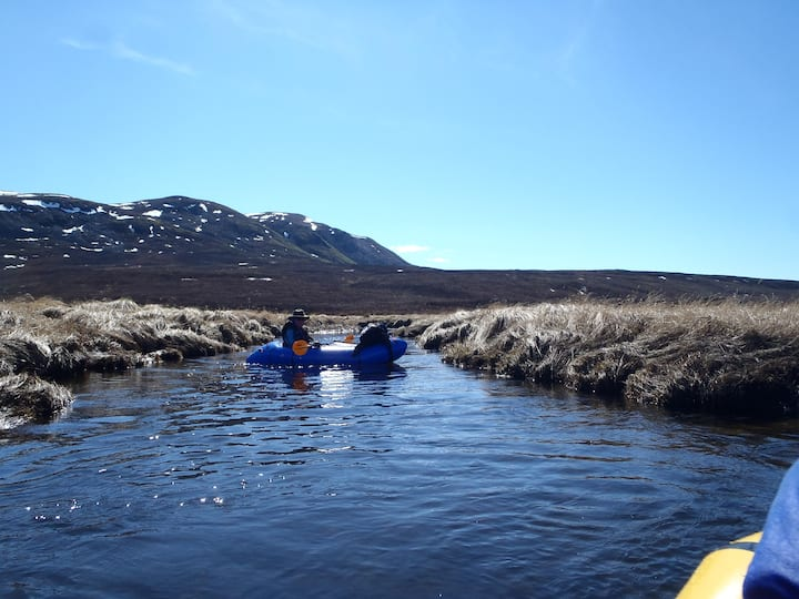 An example of packrafting in Alaska