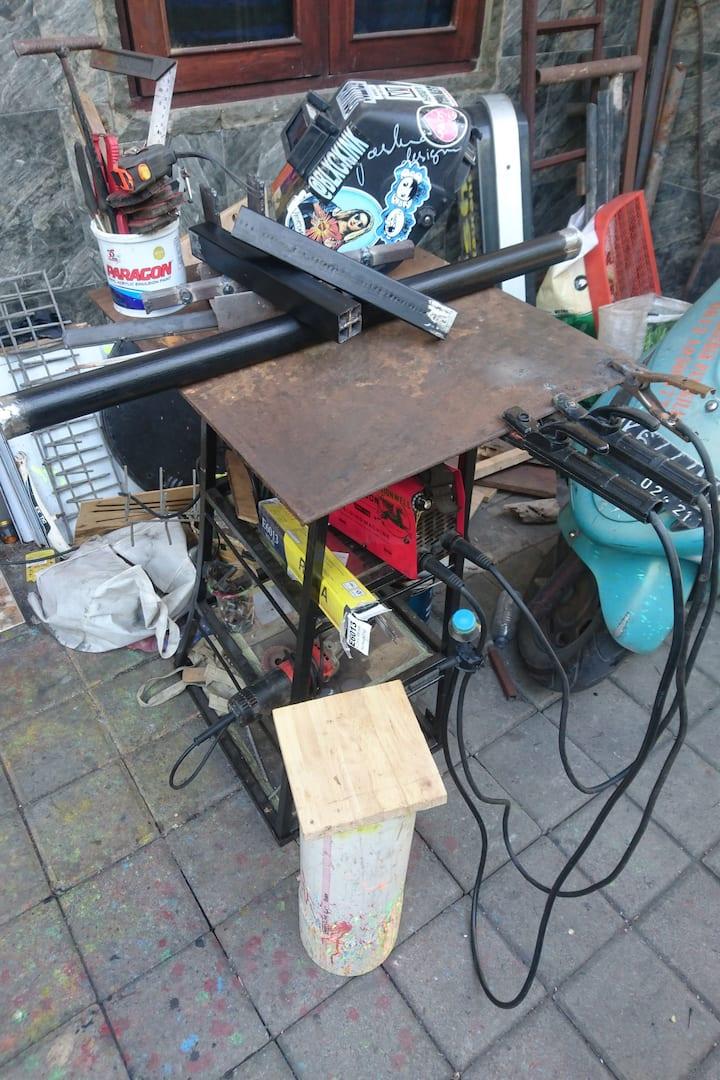 My welding table +  welding tools