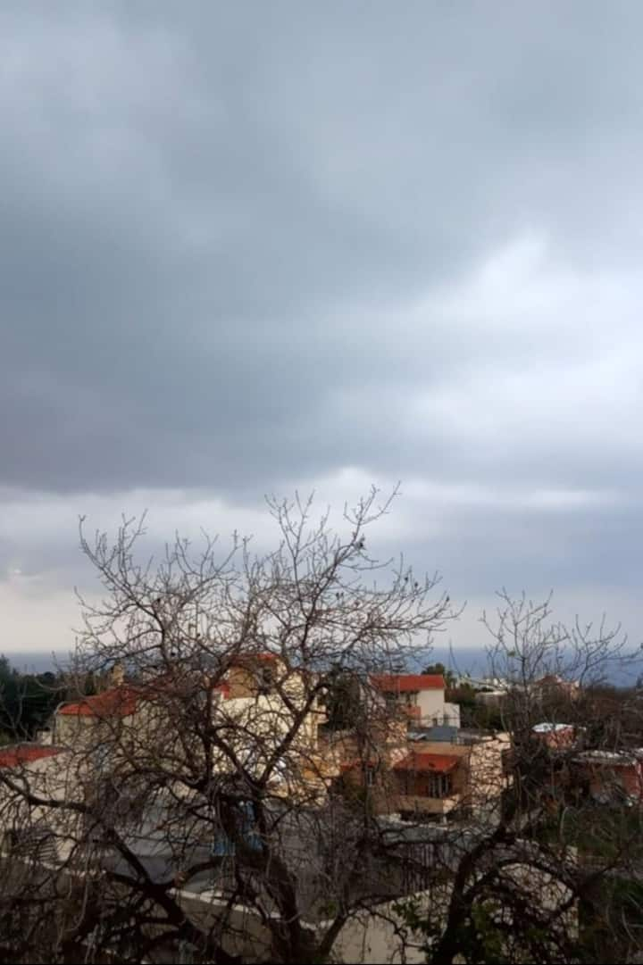 The view from my terrace in winter!