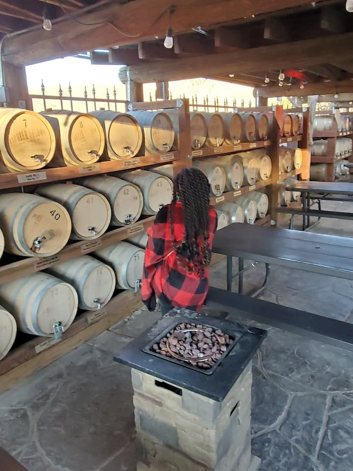 Whiskey barrels at the Pioneer Saloon