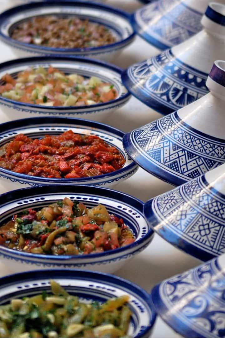Salads at Riad El Amine