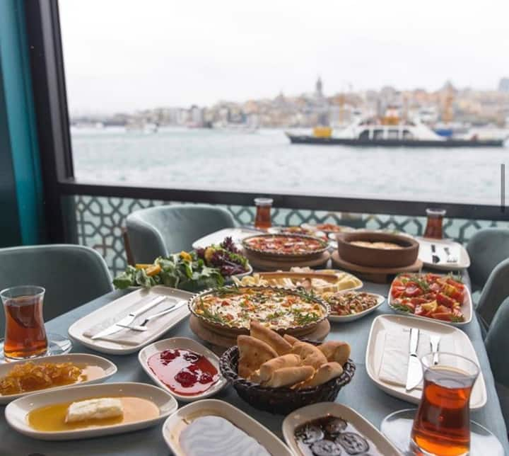 Amazing Turkish Breakfast on A Boat