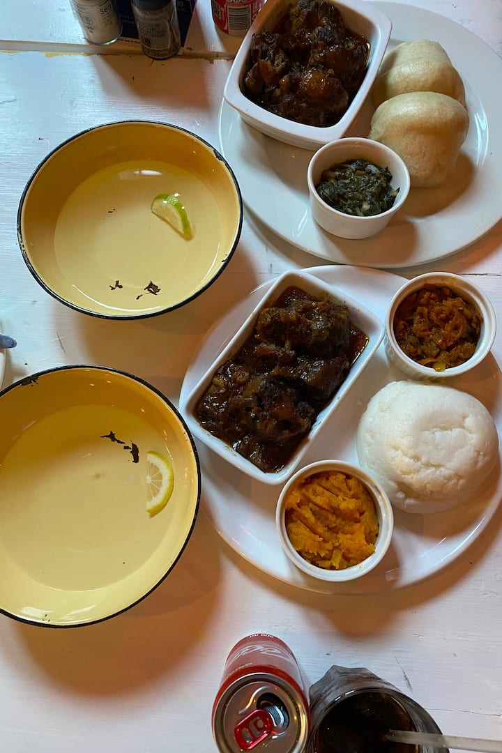 Authentic Xhosa meal