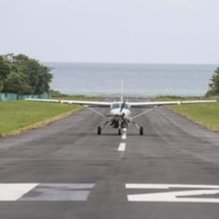 Arriving at Tambor Airport to go to ST..