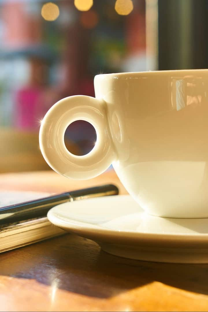 Enjoy a cup of coffee