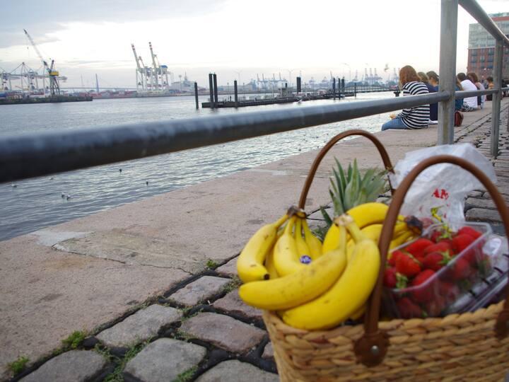 Fischmarkt direkt am Hafen