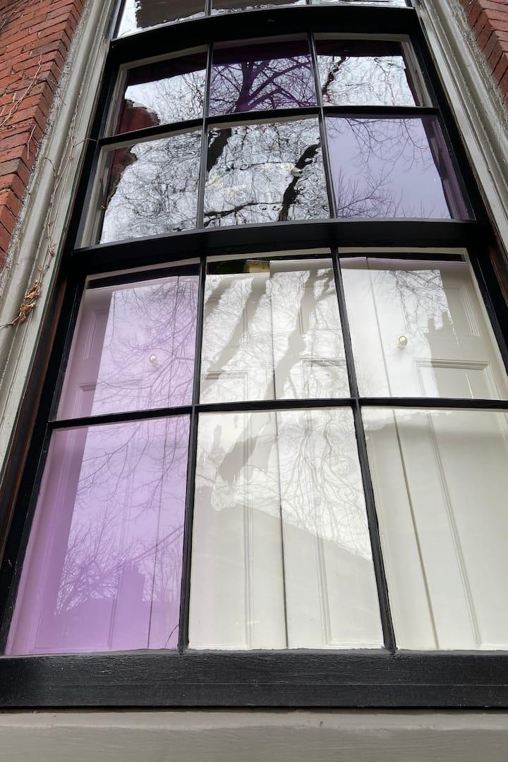 Purple glass - a status symbol in Boston
