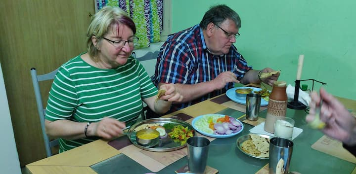 Guests enjoying the Scrumptious Meal