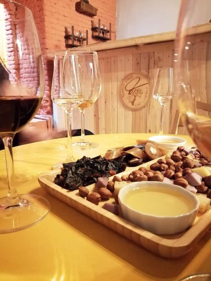 Local Wine & Snacks