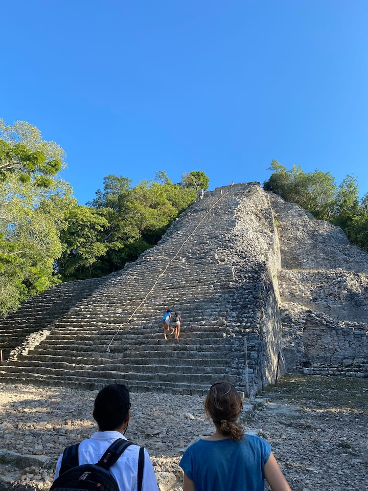Experience the Mayan sites with a professional guide, Poncho!