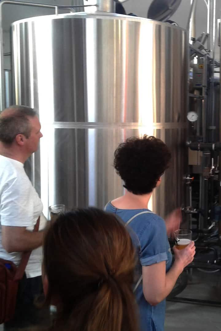 Details inside the craft beer process
