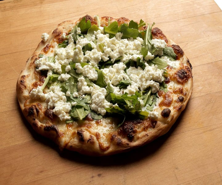 Pizza Bianca with Arugula