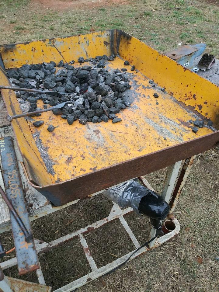 Coal fired forge