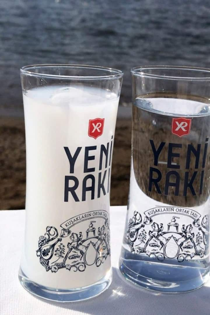 Raki is a drink drunk with water