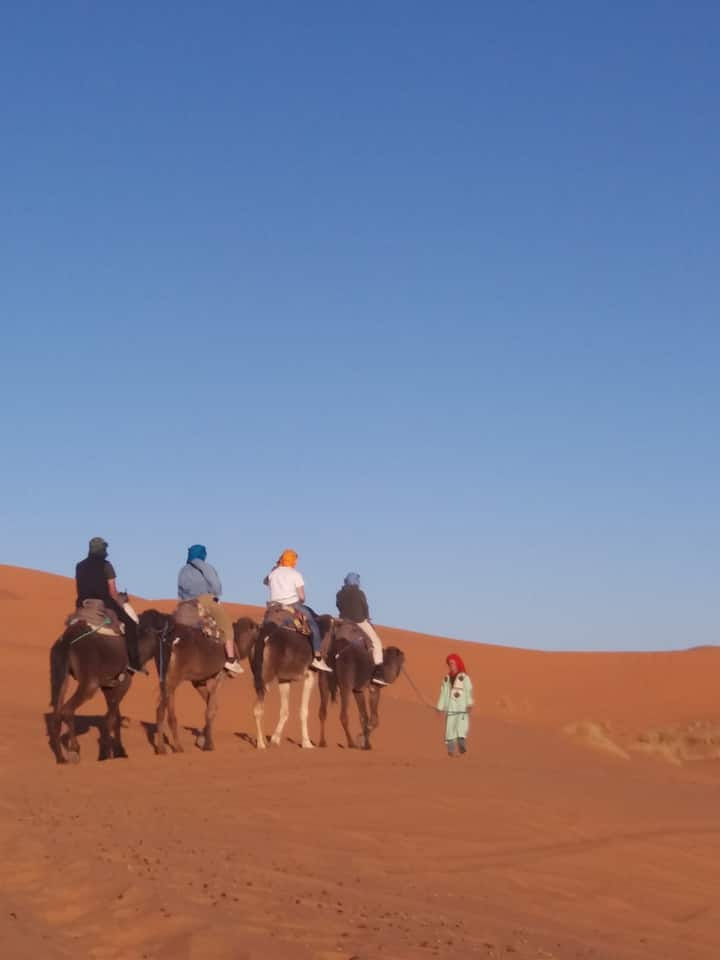 To the middle of the dunes