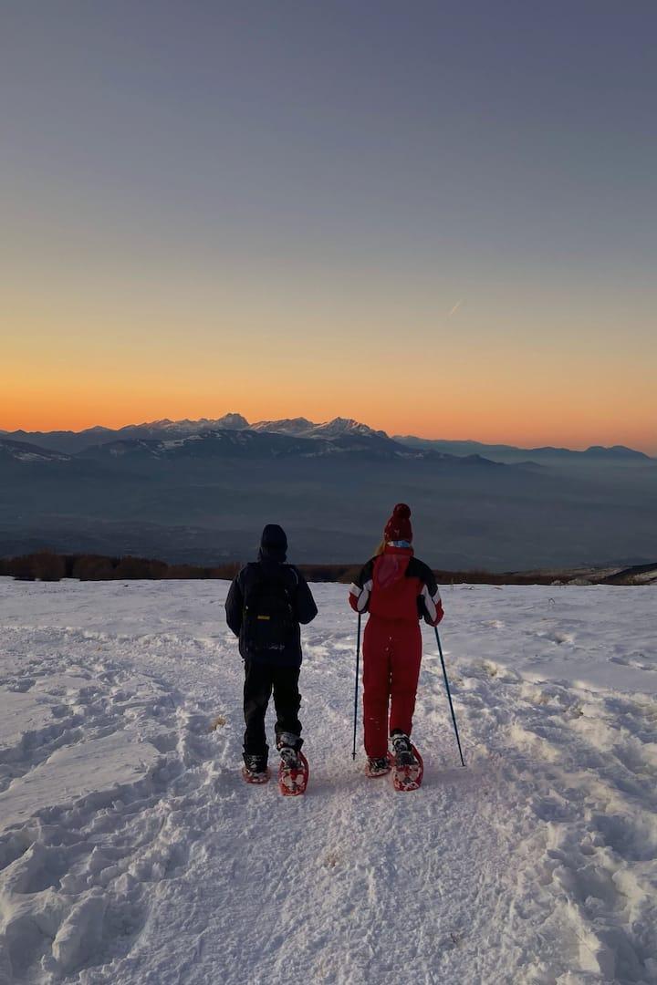 Romantiche passeggiate sulla neve...