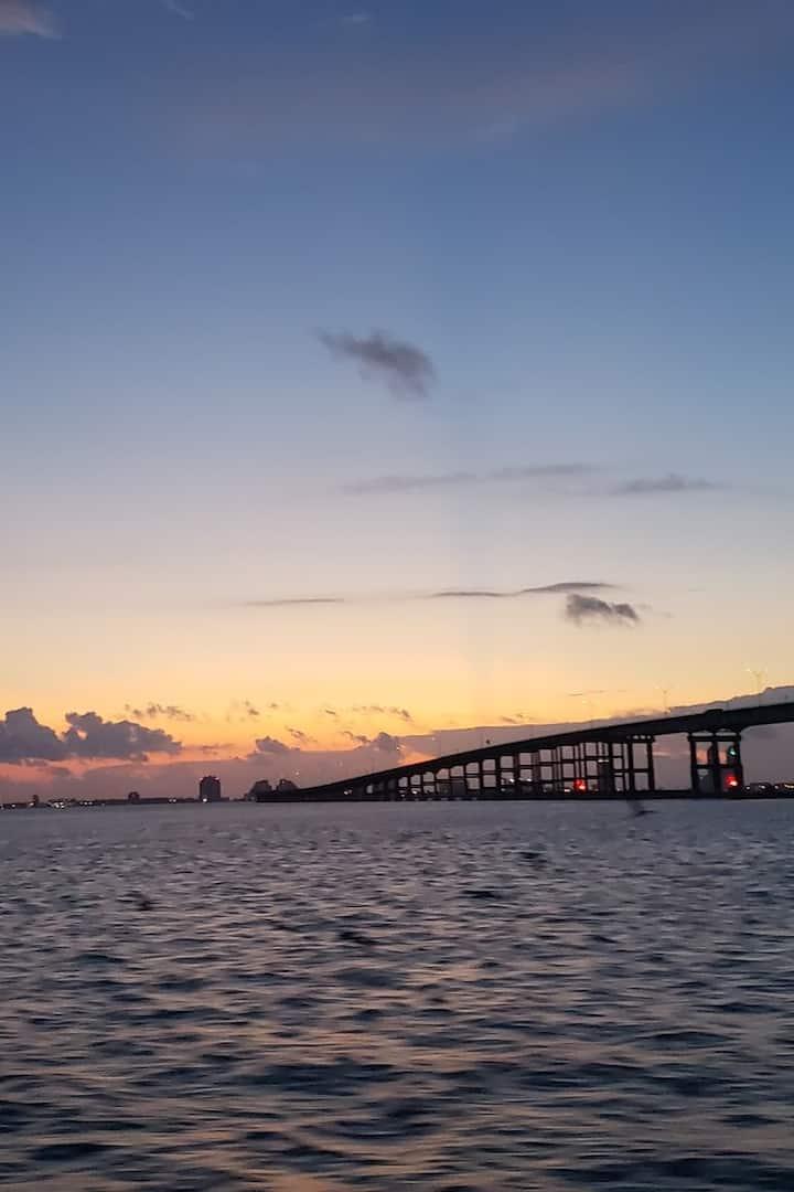 Beautiful sunrise on the bay
