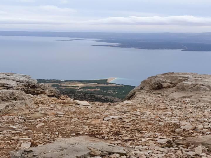 """View From Vidova Gora. """"Zlatni Rat"""" Bol"""