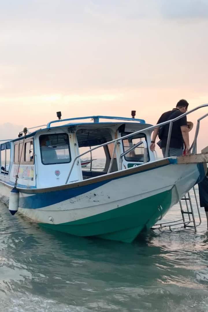 Boat to skymirror island