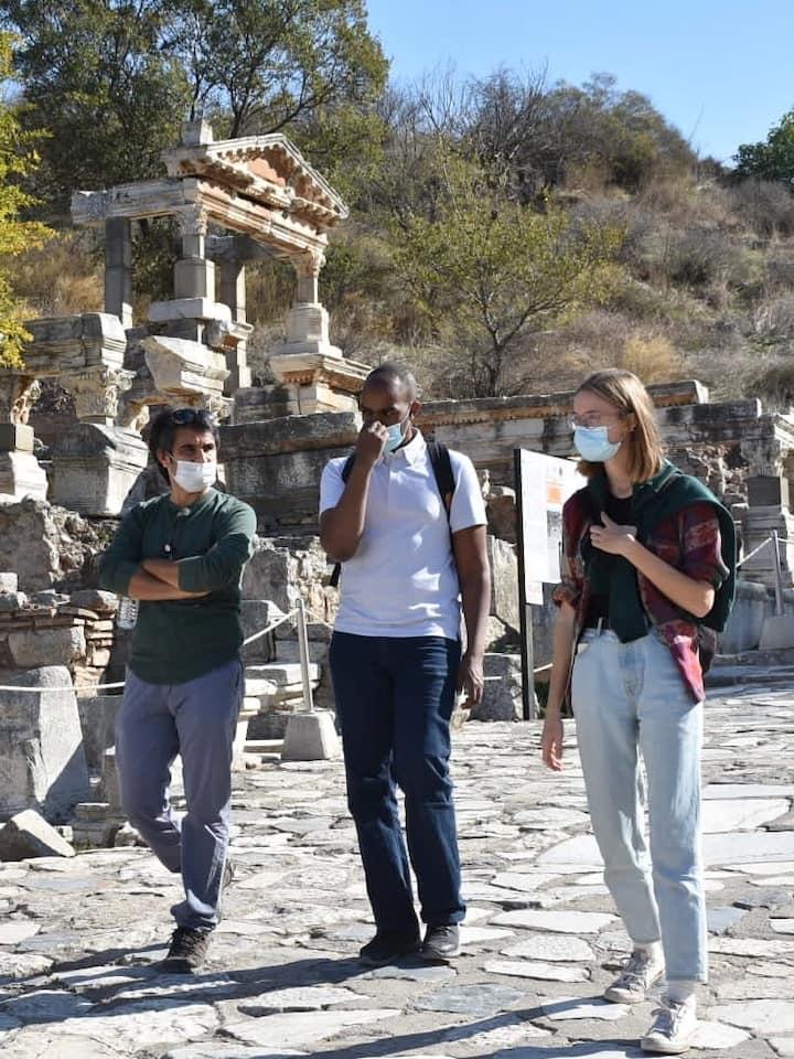 Walking down Ephesus Curetes Street
