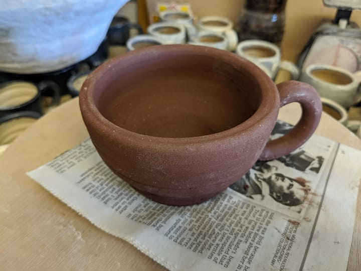Cappuccino mug in progress.