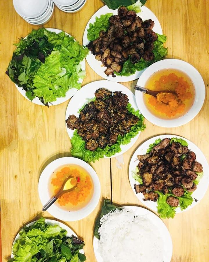Bun Cha in 2 versions: meat n vegan
