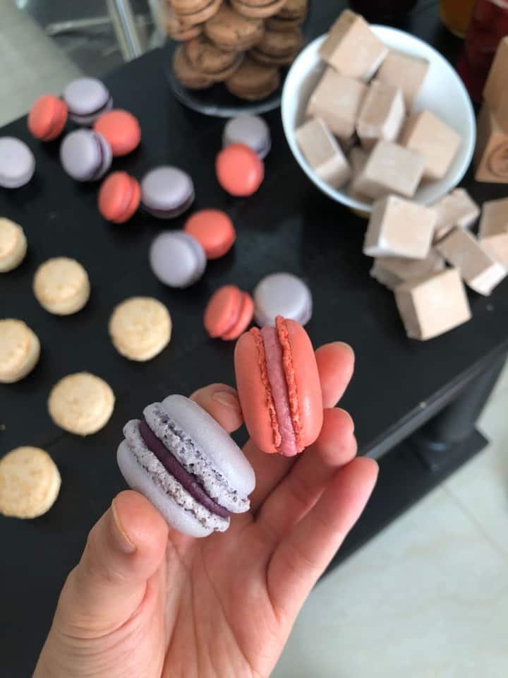 Différents parfums de macarons