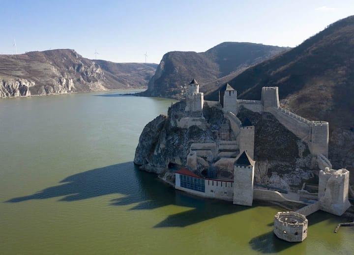 Golubac Fortress Aerial