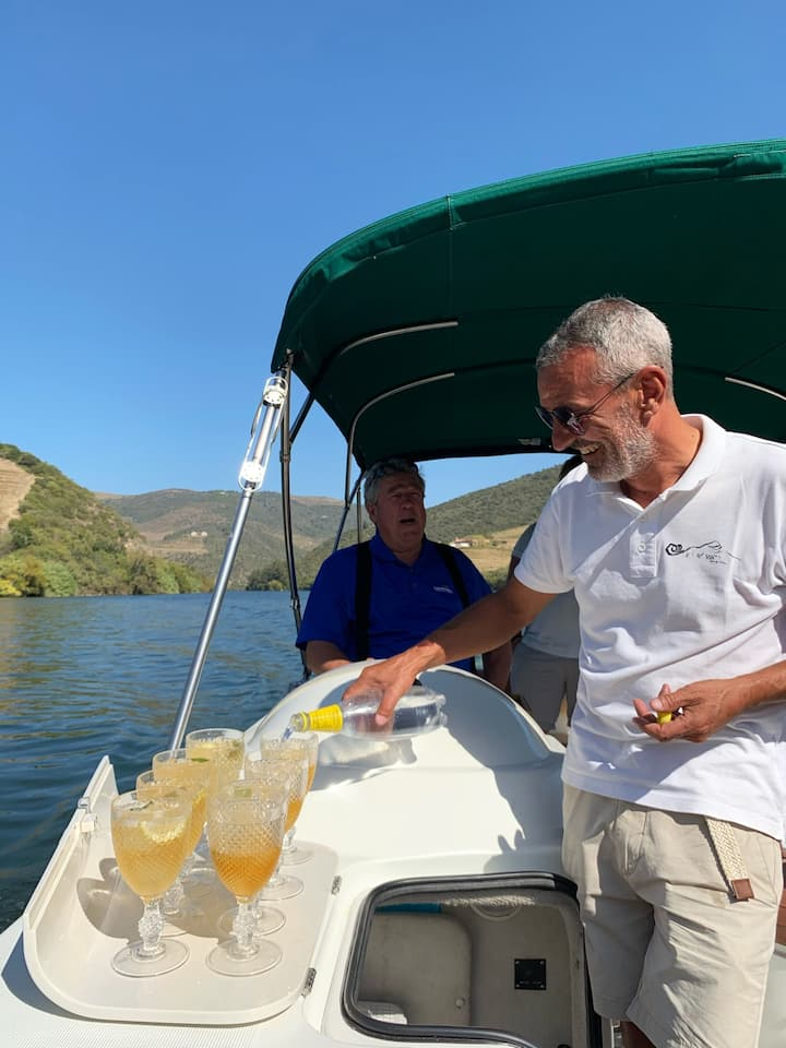 Cocktail served during boat trip