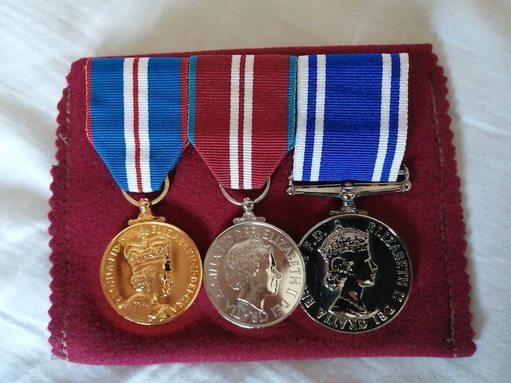 Medals awarded to me