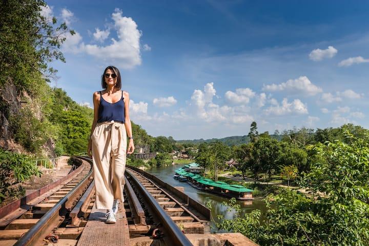 Enjoy the view of the railways.