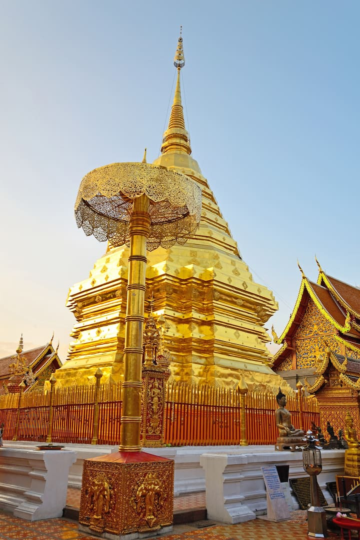 Golden pagoda at Doi Suthep