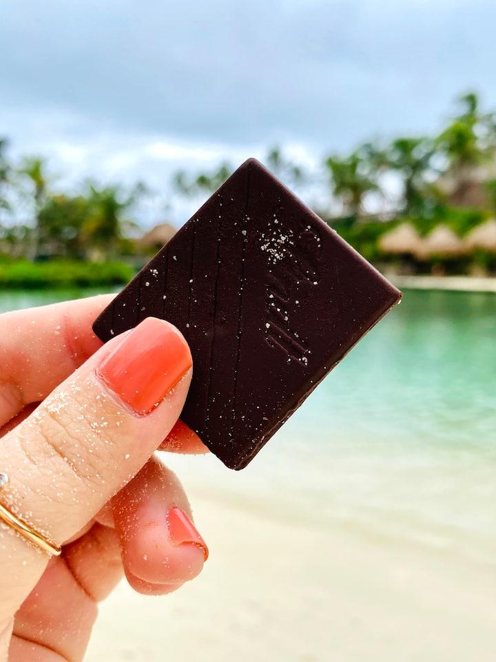 Savor a chocolate with awareness