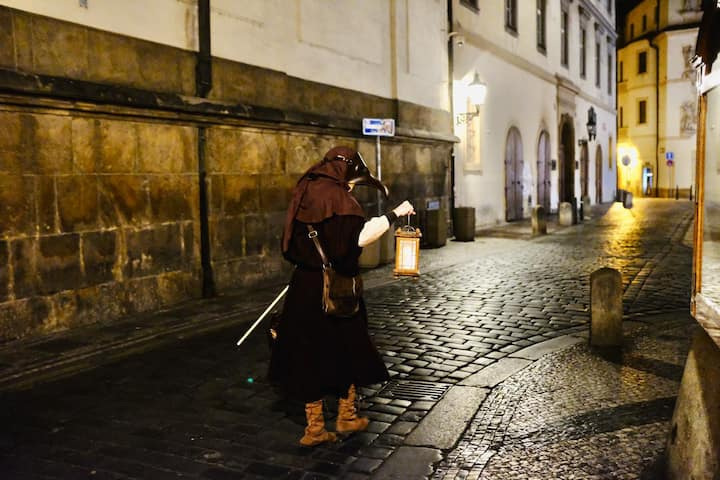 Follow your plague doctor through Prague