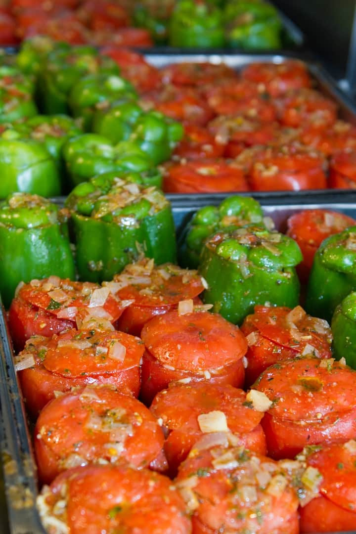 Gemista-stuffed vegetables