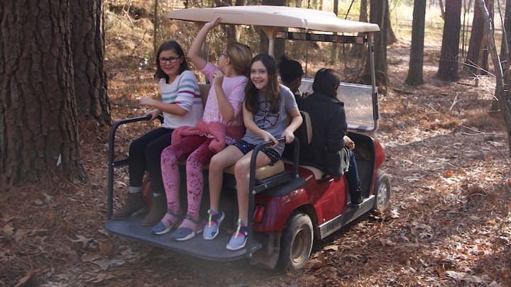 The golf cart tour of the ranch is FUN!