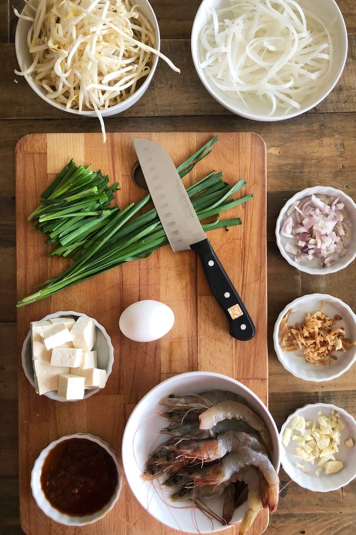 Ingredients for Pad Thai