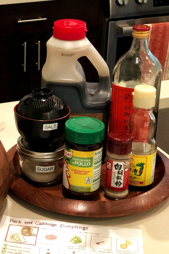 Basic ingredients for authentic flavors
