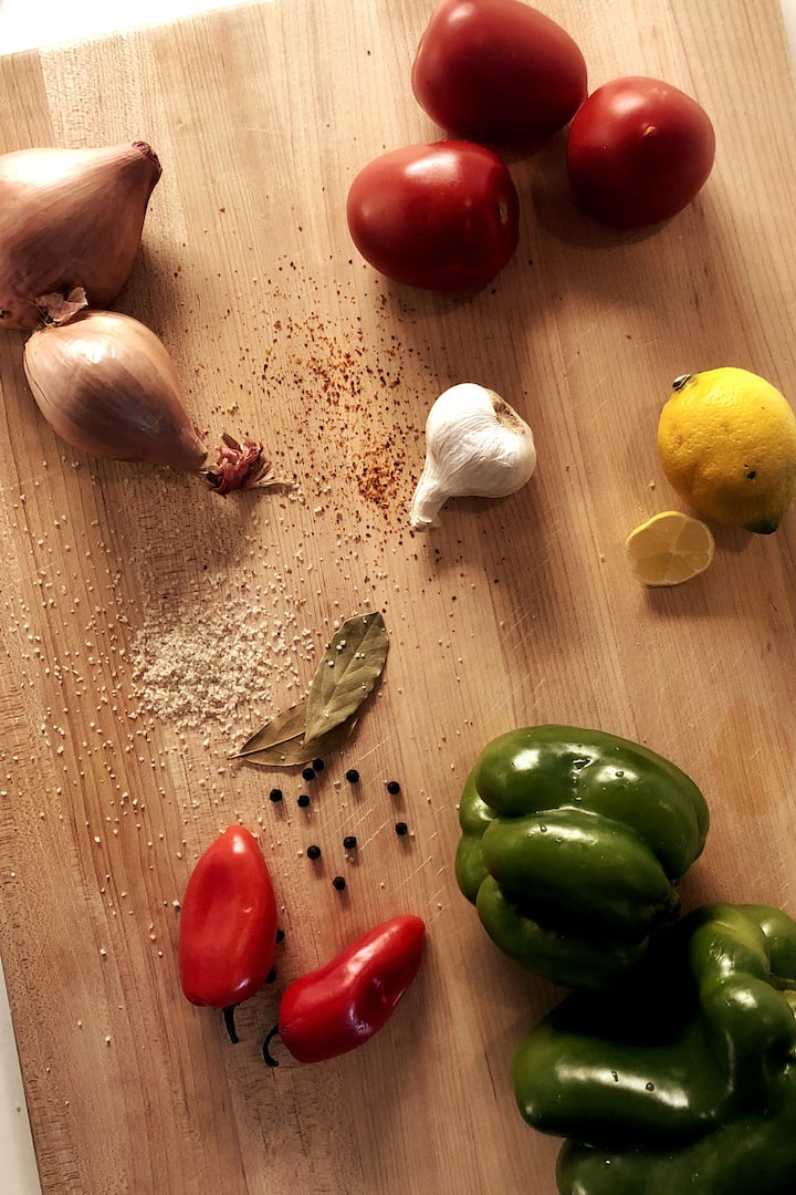 The essential Piperade ingredients
