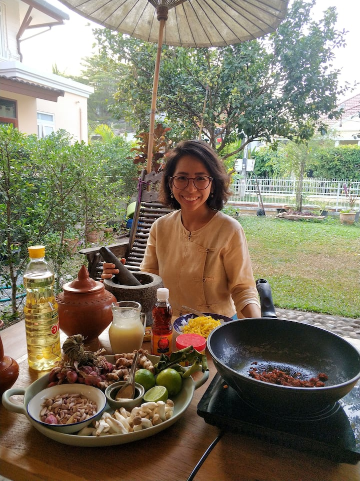 cooking at my outdoor kitchen