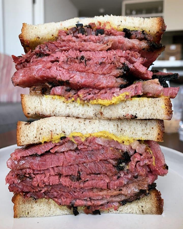 The Iconic Katz Deli New York Sandwich