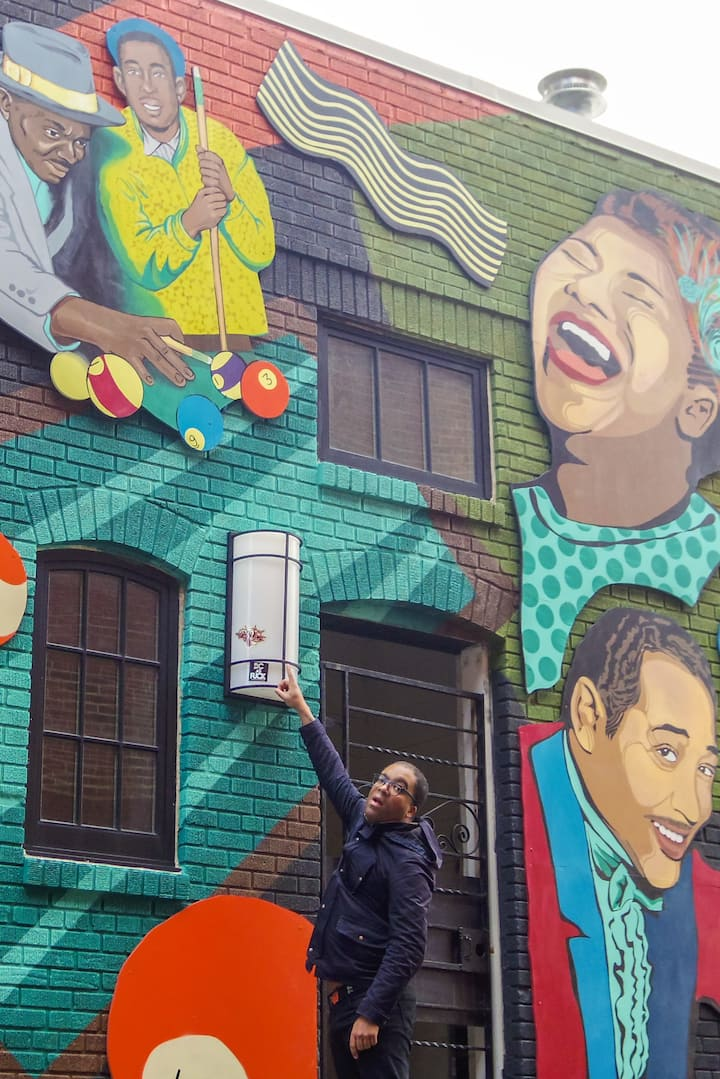 Use murals to contextualize history.