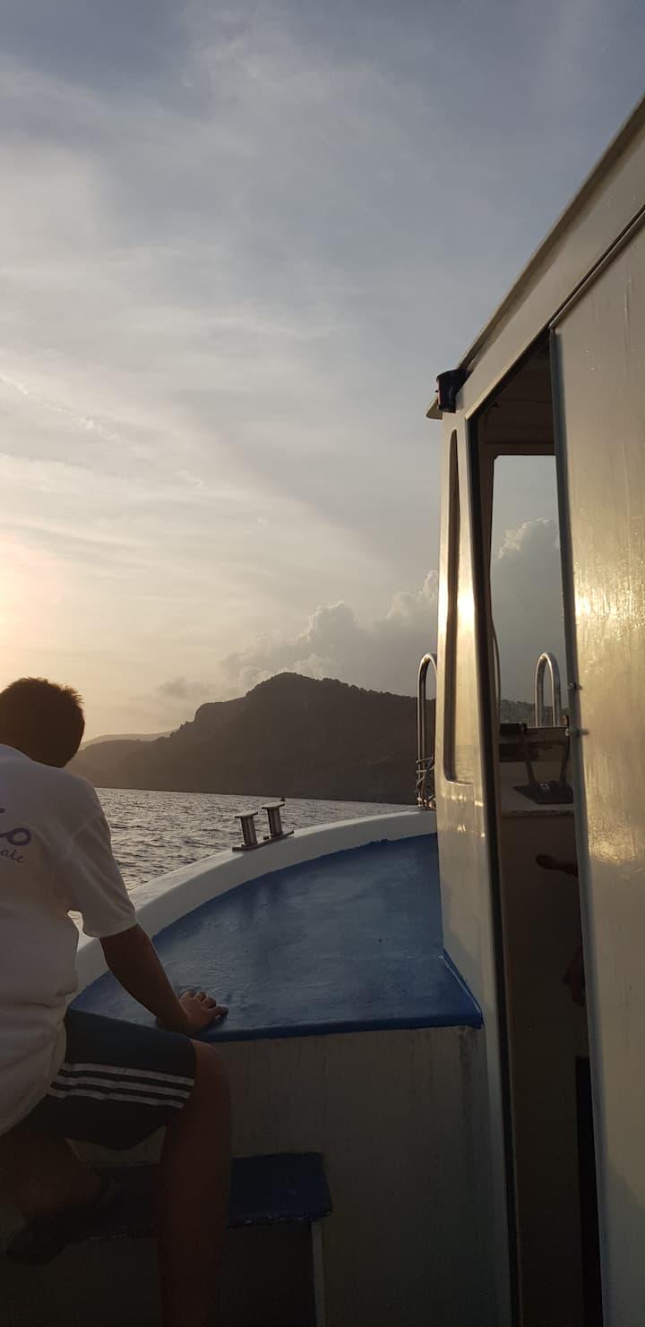 Boat to Marina di Camerota.