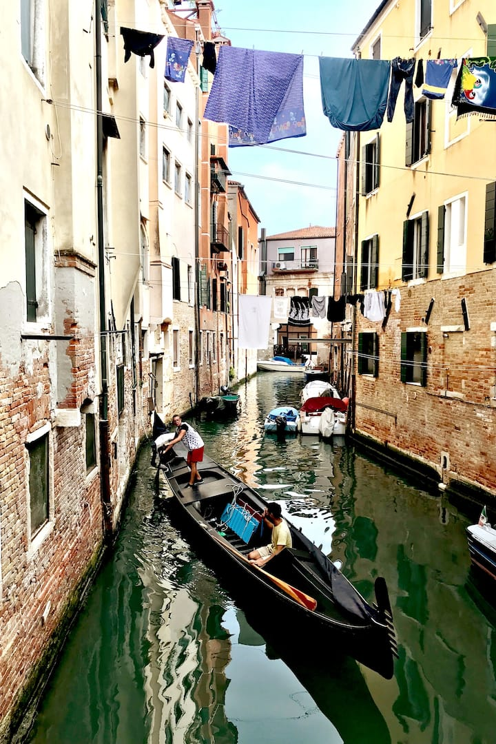 The canal at the Jewish Ghetto of Venice