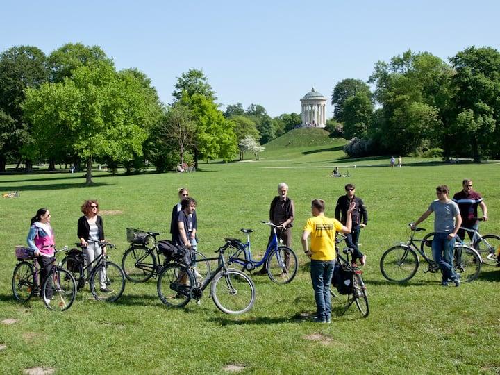 Im Englischen Garten bei der Radtour