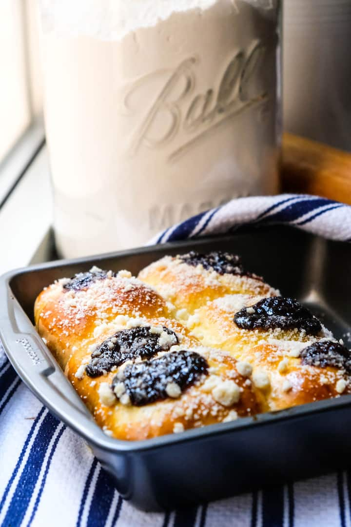 Kolaches with Plum Butter & Streusel