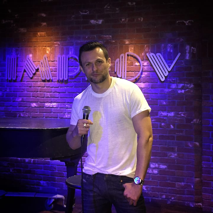 Performing at the Hollywood Improv