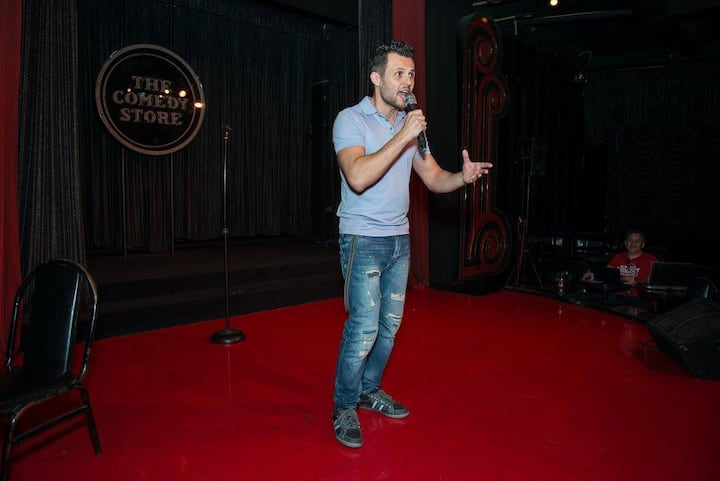 Performing at the Comedy Store LA